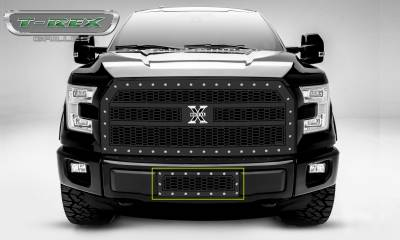 T-REX Grilles - 2015-2017 Ford F-150 Laser X Bumper Grille, Black, Mild Steel, 1 Pc, Insert #7725731