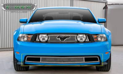 T-REX Grilles - 2010-2012 Mustang GT Upper Class Bumper Grille, Polished, 1 Pc, Bolt-On - PN #55519 - Image 4