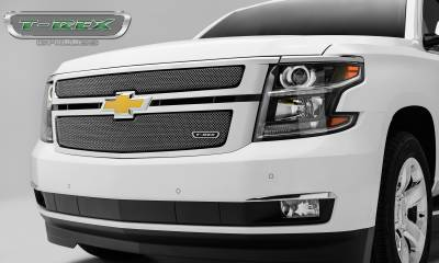 T-REX Grilles - 2015-2019 Chev Sub/Tahoe LT, LTZ Sport Grille, Polished, 2 Pc, Overlay - PN #44055 - Image 3