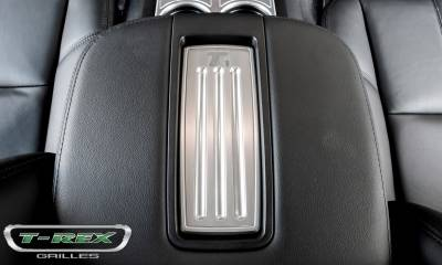 T-REX Grilles - 2007-2013 Avalanche, 07-14 Sub/Tahoe LT  Center Console Arm Rest, Brushed, 1 Pc, Tape - PN #11052 - Image 3