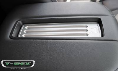 T-REX Grilles - 2007-2013 Avalanche, 07-14 Sub/Tahoe LT  Center Console Arm Rest, Brushed, 1 Pc, Tape - PN #11052 - Image 4