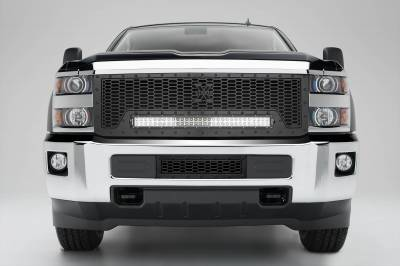 Stealth Series Grilles - T-REX Grilles - Chevrolet Silverado HD Stealth Laser X Bumper Grille, Black, Mild Steel, 1 Pc, Overlay -#7721221-BR