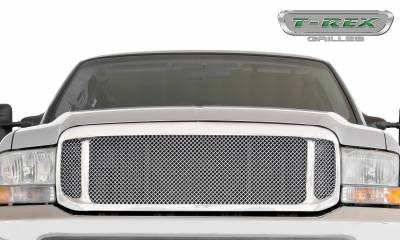 T-REX Grilles - 2000-2004 Ford Excursion, 99-04 Super Duty Upper Class Series Main Grille, Polished, 1 Pc, Insert - PN #54571 - Image 2
