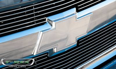T-REX Grilles - 2007-2013 Silverado 1500, 07-10 HD Front Bowtie with Border, Polished, 1 Pc, Bolt-On - PN #19110 - Image 5