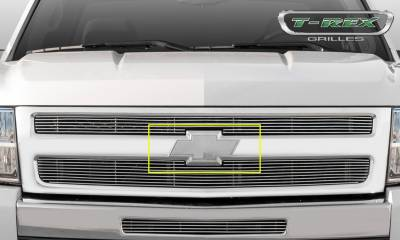 T-REX Grilles - 2007-2013 Silverado 1500, 07-10 HD Front Bowtie with Border, Polished, 1 Pc, Bolt-On - PN #19110 - Image 6
