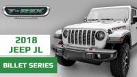 T-REX Jeep Wrangler JL Laser Cut Billet Grille