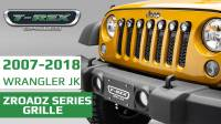 "Jeep Wrangler JK - ZROADZ Series Grille w/ (7) 2"" Round LED Lights"