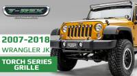 "Jeep Wrangler JK - Torch Series w/ (7) 2"" Round LED Lights"