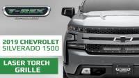Chevrolet Silverado 1500 2019 Laser Torch Grille, Black, Mild Steel, 1 Pc, Replacement