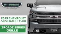 2019 Chevrolet Silverado 1500 ZROADZ Grille, Black, Mild Steel, 1 Pc, Replacement