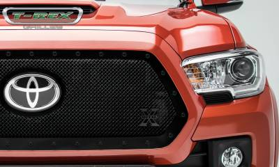T-REX Grilles - 2018-2019 Tacoma Stealth X-Metal Grille, Black, 1 Pc, Insert, Black Studs - PN #6719511-BR - Image 4
