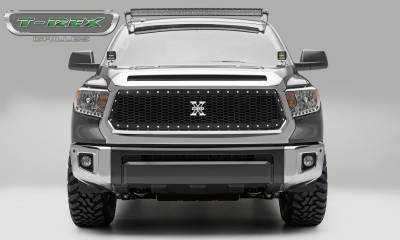 T-REX Grilles - 2014-2017 Tundra Laser X Grille, Black, 1 Pc, Replacement, Chrome Studs - PN #7719641
