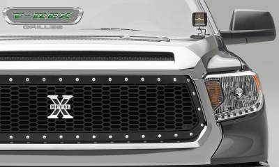 T-REX Grilles - 2014-2017 Tundra Laser X Grille, Black, 1 Pc, Replacement, Chrome Studs - PN #7719641 - Image 2