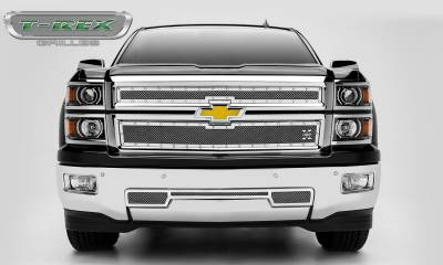 T-REX Grilles - 2014-2015 Silverado 1500 Z71 X-Metal Grille, Polished, 2 Pc, Overlay, Chrome Studs - PN #6711200 - Image 2