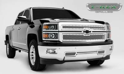 T-REX Grilles - 2014-2015 Silverado 1500 Z71 X-Metal Grille, Polished, 2 Pc, Overlay, Chrome Studs - PN #6711200 - Image 3