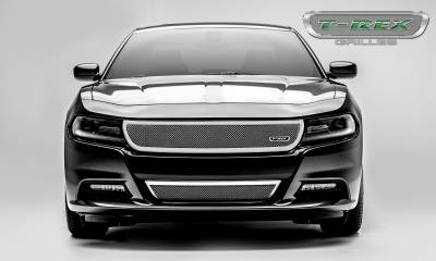 T-REX Grilles - 2015-2020 Charger Upper Class Grille, Polished, 1 Pc, Overlay - PN #54480 - Image 3