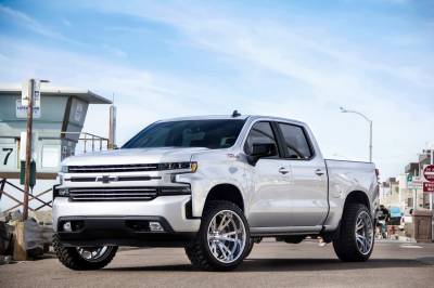 T-REX Grilles - 2019-2021 Silverado 1500 Trail Boss, RST, LT Round Billet Grille, Horizontal Round, Brushed, 4 Pc, Overlay, Does Not Fit Vehicles with Camera - PN #6211233 - Image 9