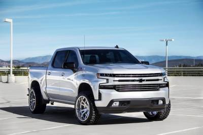 T-REX Grilles - 2019-2021 Silverado 1500 Trail Boss, RST, LT Round Billet Grille, Horizontal Round, Brushed, 4 Pc, Overlay, Does Not Fit Vehicles with Camera - PN #6211233 - Image 7