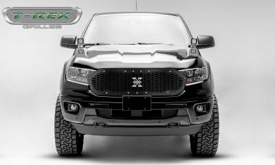 T-REX Grilles - 2019-2020 Ford Ranger Laser X Grille, Chrome Studs, 1 Pc, Replacement - PN #6315821