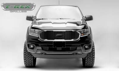 T-REX Grilles - 2019-2020 Ford Ranger Laser X Grille, No Studs, 1 Pc, Replacement with Trim, must reuse factory logo - PN #6315823