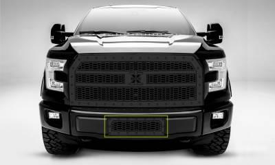 T-REX Grilles - 2015-2017 F-150 Laser X Bumper Grille, Black, 1 Pc, Insert, Chrome Studs - PN #7725731