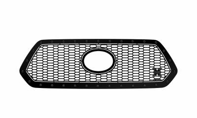 T-REX Grilles - 2018-2021 Tacoma Stealth Laser X Grille, Black, 1 Pc, Insert, Black Studs, Does Not Fit Vehicles with Camera - PN #7719511-BR - Image 3