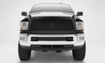 T-REX Grilles - 2013-2018 Ram 2500, 3500 Stealth Laser X Grille, Black, 1 Pc, Replacement, Black Studs - PN #7714521-BR