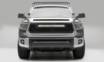 "T-REX Grilles - 2014-2017 Tundra Stealth Laser Torch Grille, Black, 1 Pc, Replacement, Black Studs, Incl. (1) 30"" LED - PN #7319641-BR"