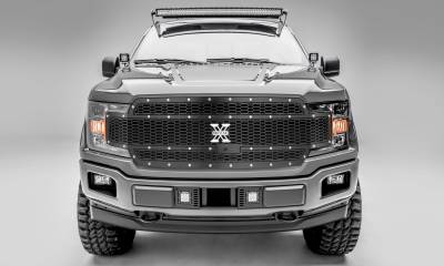 T-REX Grilles - 2018-2020 F-150 Laser X Grille, Black, 1 Pc, Replacement, Chrome Studs, Fits Vehicles with Camera - PN #7715891