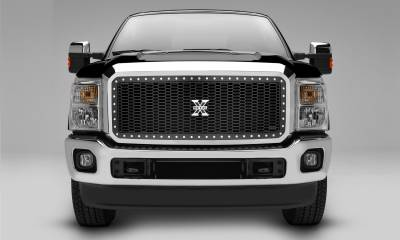 T-REX Grilles - 2011-2016 Super Duty Laser X Grille, Black, 1 Pc, Insert, Chrome Studs - PN #7715461