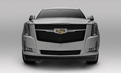 T-REX Grilles - 2015-2019 Escalade Upper Class Grille, Black with Brushed Center Trim Piece, 1 Pc, Replacement, Fits Vehicles with Camera - PN #51181 - Image 4