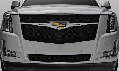 T-REX Grilles - 2015-2020 Escalade Upper Class Grille, Black with Brushed Center Trim Piece, 1 Pc, Replacement, Fits Vehicles with Camera - PN #51181 - Image 5