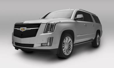 T-REX Grilles - 2015i-2020 Escalade Upper Class Series Main Grille, Black with Chrome Plated Center Trim Piece, 1 Pc, Replacement, Fits Vehicles with Camera - PN #51191 - Image 2
