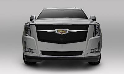 T-REX Grilles - 2015i-2020 Escalade Upper Class Series Main Grille, Black with Chrome Plated Center Trim Piece, 1 Pc, Replacement, Fits Vehicles with Camera - PN #51191 - Image 4