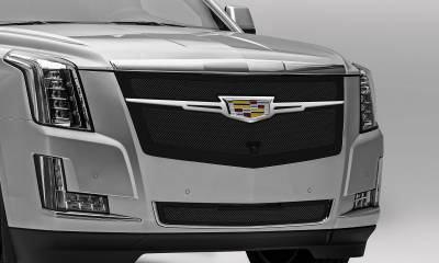 T-REX Grilles - 2015i-2020 Escalade Upper Class Series Main Grille, Black with Chrome Plated Center Trim Piece, 1 Pc, Replacement, Fits Vehicles with Camera - PN #51191 - Image 5