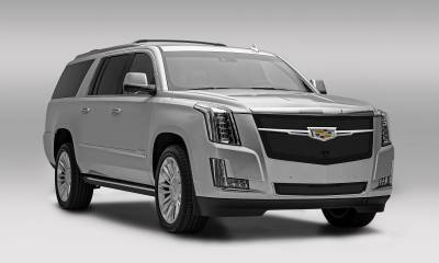 T-REX Grilles - 2015i-2020 Escalade Upper Class Series Main Grille, Black with Chrome Plated Center Trim Piece, 1 Pc, Replacement, Fits Vehicles with Camera - PN #51191 - Image 6