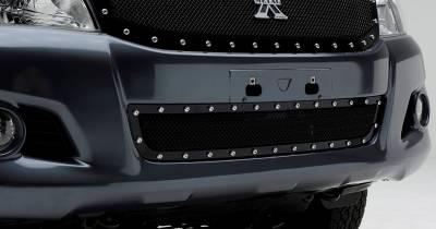 T-REX Grilles - 2012-2015 Toyota Hilux X-Metal Bumper Grille, Black, 1 Pc, Overlay, Chrome Studs - PN #6729091 - Image 2