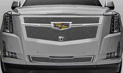 T-REX Grilles - 2015-2020 Escalade Upper Class Grille, Chrome with Chrome Center Trim Piece, 1 Pc, Replacement, Fits Vehicles with Camera - PN #56191 - Image 6