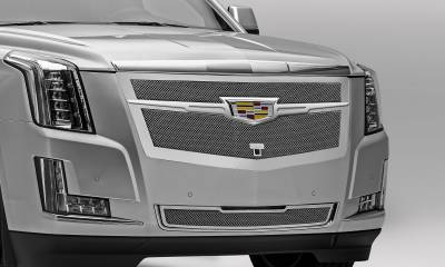 T-REX Grilles - 2015-2020 Escalade Upper Class Grille, Chrome with Chrome Center Trim Piece, 1 Pc, Replacement, Fits Vehicles with Camera - PN #56191 - Image 5