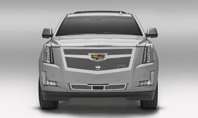 T-REX Grilles - 2015i-2020 Escalade Upper Class Grille, Chrome, 1 Pc, Replacement, Fits Vehicles with Camera - PN #56181 - Image 3