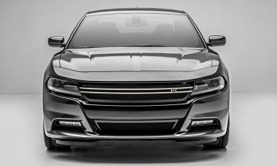 T-REX Grilles - 2015-2020 Charger DJ Grille, Black, 1 Pc, Insert, with Brushed Trim Accent  - PN #DJ14761 - Image 5
