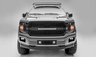 "T-REX Grilles - 2018-2020 F-150 ZROADZ Grille, Black, 1 Pc, Replacement, Incl. 20"" LED - PN #Z315711"