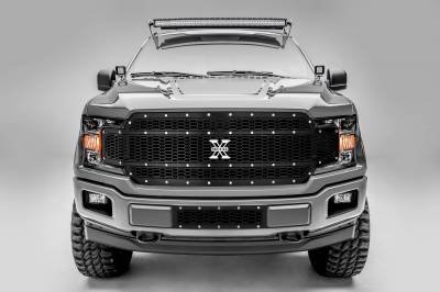 T-REX Grilles - 2018-2020 F-150 Laser X Grille, Black, 1 Pc, Replacement, Chrome Studs - PN #7715841