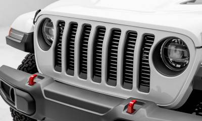 T-REX Grilles - Jeep Gladiator, JL Round Billet Grille, Silver, 1 Pc, Insert, Does Not Fit Vehicles with Camera - PN #6204946 - Image 1