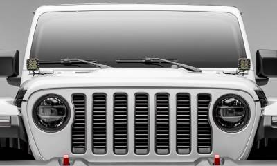 T-REX Grilles - Jeep Gladiator, JL Round Billet Grille, Silver, 1 Pc, Insert, Does Not Fit Vehicles with Camera - PN #6204946 - Image 3
