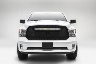 """T-REX Grilles - 2013-2018 Ram 1500 Stealth Torch Grille, Black, 1 Pc, Replacement, Black Studs, Incl. (1) 30"""" LED - PN #6314551-BR"""
