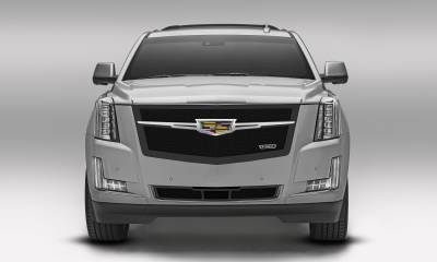 T-REX Grilles - 2015 Escalade Upper Class Series Main Grille, Black with Chrome Plated Center Trim Piece, 1 Pc, Replacement - PN #51185 - Image 2