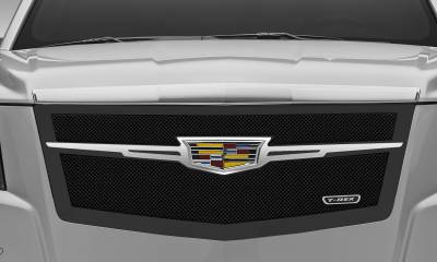 T-REX Grilles - 2015 Escalade Upper Class Series Main Grille, Black with Chrome Plated Center Trim Piece, 1 Pc, Replacement - PN #51185 - Image 3