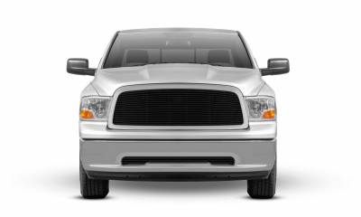 T-REX Grilles - Dodge Ram PU 1500 Billet Grille Insert - Black - 1 Pc - Pt # 20457B - Image 3