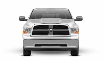 T-REX Grilles - Dodge Ram PU 1500 Billet Grille Overlay - Black - 4 Pc - Pt # 21456B - Image 3